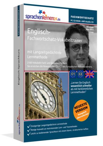 Englisch Fachwortschatz-Vokabeltrainer von Sprachenlernen24